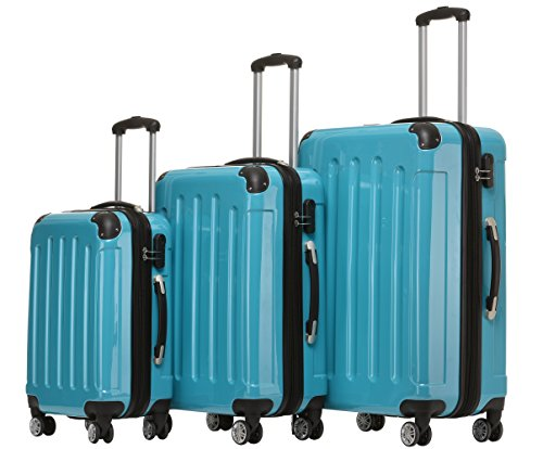 Beibye 2048 – Juego de 3 maletas rígidas (policarbonato)