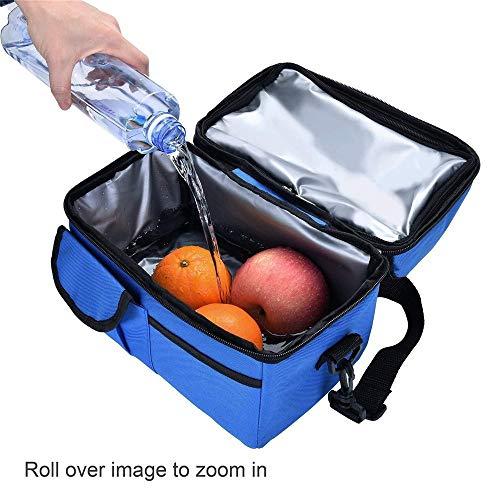 koperras GroßE Eisbeutel Doppelt Isolierte Tasche Muttermilch Aufbewahrungstasche Bento Tasche Lebensmittel KüHltasche ReißVerschluss Diagonale Wasserdichte Handtasche
