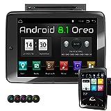 XOMAX XM-2DA1092 Autoradio mit 10,9 Zoll / 27,7 cm XXL IPS Touchscreen I drehbar, schwenkbar I Android 8.1, Octa Core, 4GB RAM, 32GB ROM, GPS Navigation I Bluetooth, DVD, CD, USB, SD, AUX I 2 DIN