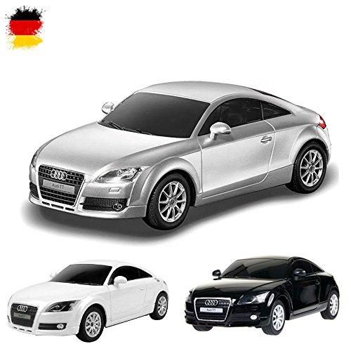 Unbekannt Audi TT - Original ferngesteuertes Lizenz-Fahrzeug Auto Car im Modell-Maßstab 1:24, Ready-to-Drive, inkl. Fernsteuerung