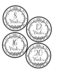 Vintage Pregnancy Bump Stickers Waterproof And Durable Includes 8 40 Weeks Stickers