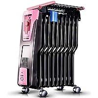 MLL Radiador Eléctrico - Radiador Eléctrico sin Aceite con Control de Temperatura - Calefacción Eléctrica de