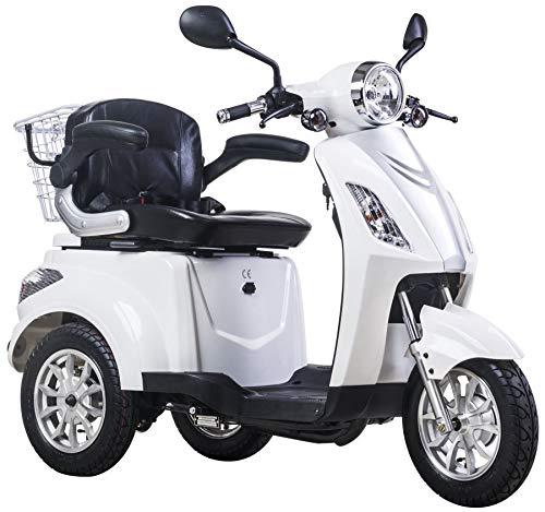 Lunex Elektro Dreirad für Senioren Elektroroller EU-Zulassung ZT15B Weiß