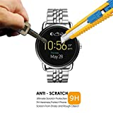 #7: ACUTAS Tempered Glass Screen Protector Round Edge for Fossil Q wander