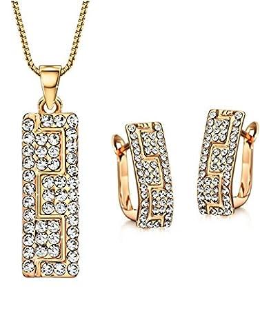 Neoglory Jewellery Rosegold Schmuckset mit Swarovski® Elements
