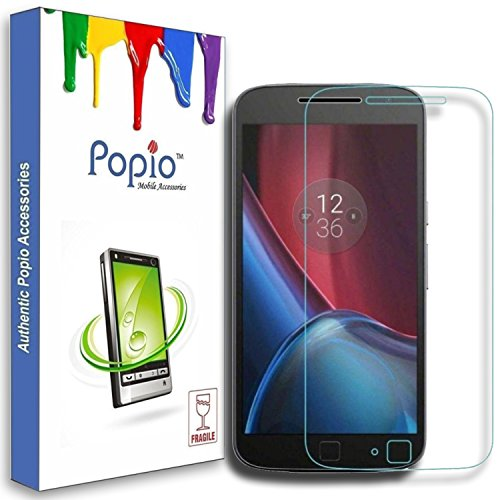 POPIO™ Tempered Glass Screen Protector For Motorola Moto G4 Plus / Moto G Plus ,4h Generation with free installation kit with Secure Packing