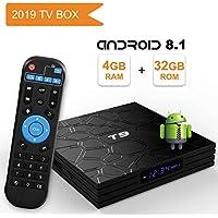 Android TV Box 8.1,2019 T9 Android box 4GB RAM 32GB ROM RK3328 Quad Core/2.4GHz/64 bits / BT4.1 / H.265 / 3D UHD 4K Smart TV Box