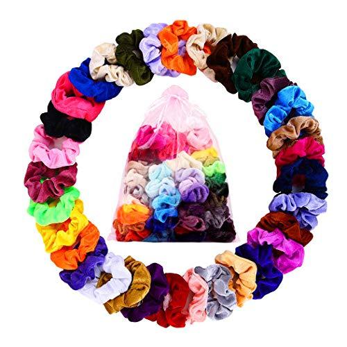 Scrunchies velluto vsco girl 23 elastici per capelli fasce per capelli donna bambina ragazza accessori donna assortiti splendidi colori di tendenza morbidi eleganti