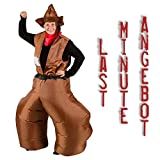 Ambientehome aufblasbares Kostüm Cowboy Hose Karneval Kostüm Fasching Western