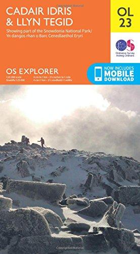 OS Explorer OL23 Cadair Idris & Llyn Tegid (OS Explorer Map)