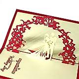 URTENT Hochzeitskarte Pop Up Karte Glückwunschkarten Hochzeitskarten mit Umschlag Lustig Comic Geschenk Geschenk Mitbringsel Hochzeit