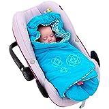 ByBoom® - Manta para envolver al bebé para el período de transición y el verano, para el asiento del bebé en el coche, asiento del Auto, por ejemplo, Maxi-Cosi, Römer, para Buggy, cochecito o cuna