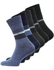 Lot de 10 paires de chaussettes - coton et élasthanne - aspect STREET - forme ajustée - homme