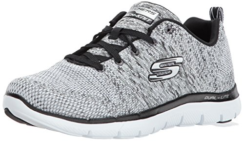 Skechers Damen Flex Appeal 2.0-High Energy Outdoor Fitnessschuhe, Weiß (WBK), 37.5 EU