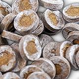 1000 Jiffy Quell-Tabletten Torf-Quelltöpfe Aussaaterde Anzuchterde Torftablette