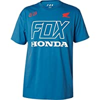 Fox Racing Fox Honda - Camiseta de Manga Corta, Dusty Blue, Large