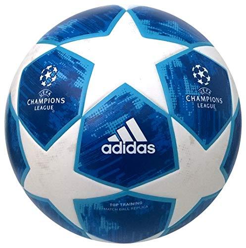 adidas Herren Finale18 Sport Fußball, White/Football Blue/Bright Cyan/Collegiate Royal, 5