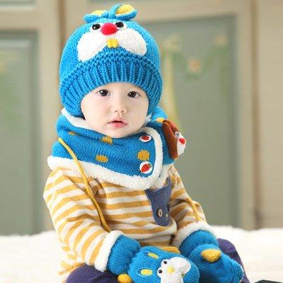 Winter Children Cap Baby Woolen Knitted hat Ear cap Baby