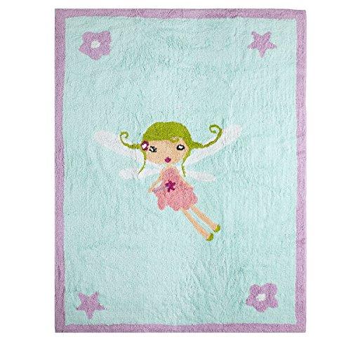 Lilipouce Teppich Kinder Baumwolle Fee Magische, Stoff, himmelblau, 120x160 cm