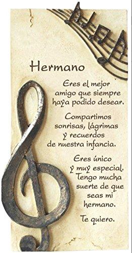 PERGAMINO DE PIEDRA LABRADA CON TEXTOS PARA OCASIONES ESPECIALES, IDEAL PARA REGALO ORIGINAL Y ECONÓMICO. ESPECIAL HERMANO