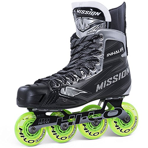 Bauer Mission Junior RH Inhalator NLS-04Hockey Skate, schwarz, E 3,5