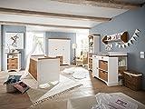 massivum Julia Babyzimmer, Holz, weiß, 57 x 162 x 192 cm