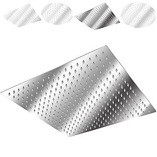 TecTake Kopfbrause Regendusche Edelstahl poliert - Diverse Modelle - (Quadratisch | 40x40cm | Nr. 401601)