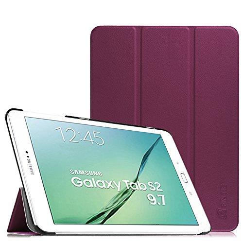 Fintie Samsung Galaxy Tab S2 9.7 Hülle Case - Ultra Schlank Superleicht Ständer SlimShell Cover Schutzhülle Tasche mit Auto Schlaf / Wach Funktion für Samsung Galaxy Tab S2 T810N / - Case S2 Lila
