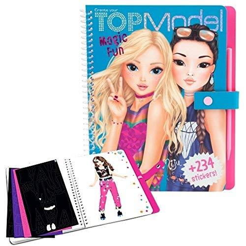 Top Model 6670 Magic Fun - Malbuch mit Stickern zum Gestalten