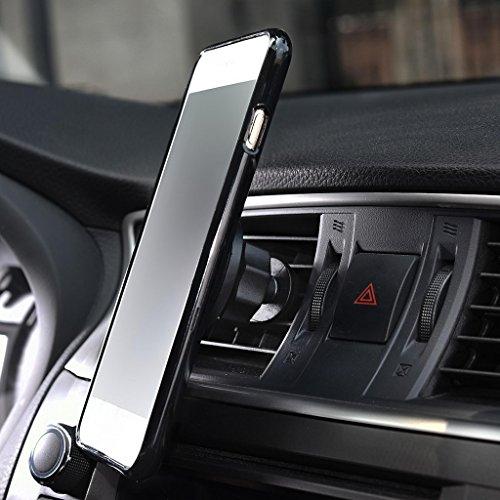 Kroo Support pour téléphone portable pour grille d'aération Berceau Magnétique support de voiture pour Smartphones Bundle pour Apple Iphone 6Plus noir - noir noir - noir