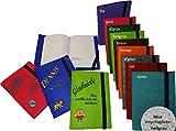 GiO-Shop * Sonderanfertigung mit Stickerei Notizbuch mit Filz-Umschlag Einband Din A5 mit Name/Spruch & Motiv/Sternzeichen Bestickt in 10 Farben zur Auswahl