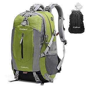 Colisal 40L Mochila Senderismo Mochilas Trekking Mujer Hombre con Funda Cubierta Impermeable de Mochila para Alpinismo…