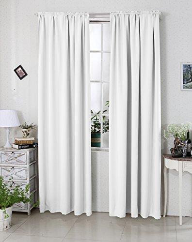 WOLTU VH5880ws-2-a , 2 x Gardinen Vorhänge blickdicht mit Kräuselband , schwere Verdunkelungsgardine Verdunkelungsvorhang Thermovorhang 2er Set Wohnzimmer Kinderzimmer Schlafzimmer...