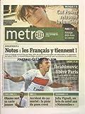 METRO [No 2256] du 03/09/2012 - EDUCATION - LES FRANCAIS TIENNENT AUX NOTES - ETATS-UNIS - OBAMA SORT SA CARTE JEUNES - VAR -A CCIDENT DE CAR MORTEL - TELE - JULIA VIGNALI AUX MARTENELLES - CAT POWER RETROUVE LA LUMIERE - LES SPORTS - FOOT AVEC IBRAHIMOVIC