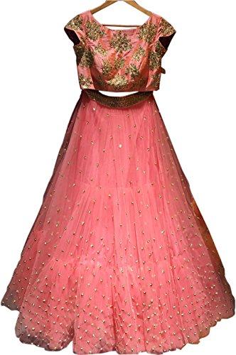 Classyfashion Women\'s Party Wear New Collection Special Sale Offer PinkHeavy Bridal Wedding Lehenga Chaniya Ghagra Choli Lehenga Choli