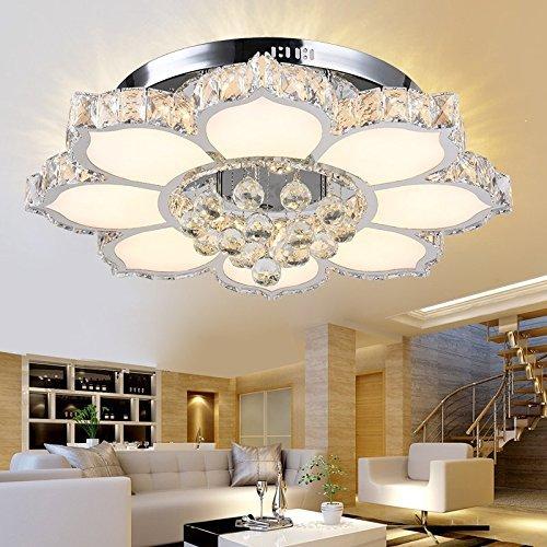 Modernen Kristall Deckenleuchte neue einfache LED Pendelleuchte rund hängende Licht die frische Wohnzimmeratmosphäre Schlafzimmer eingebettet verzweigte Deckenleuchte Creative Schlafzimmer Restaurant Beleuchtung Versprechen Dimmen 45 * 18cm