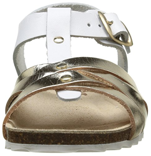 Garvalin Cordoba, Sandales Fille Or (D Blanco Y Oro Mat)