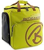 BRUBAKER Skischuhtasche Helmtasche Skischuhrucksack Super Champion Hellgrün Hellbraun - Limited Edition -