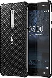 Nokia 1A21M1E00VA Carbonfaser Design Hülle CC-803 für Nokia 5 onyx schwarz