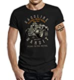 GASOLINE BANDIT Original Rockabilly Biker Racer Design T-Shirt: Hot Rod Race-XL