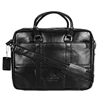 OMAX Brown 100% Genuine Large Compartment Tan Colour Leather Messenger Laptop Bag for Men