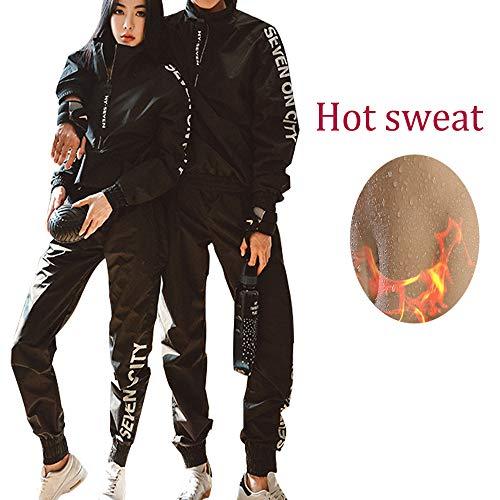 MINIRAH! Saunaanzug Herren Damen Anti-Rip Slimmimg Sport Fitness Training Gewichtsverlust Gymnastikanzug, schwarz, X-Large -