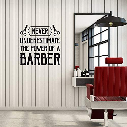 yiyiyaya Vinyl Wandtattoo Barber Quote Spruch Friseursalon Friseurinnenaufkleber Wandbild Haarschnitt Zeichen Für Friseursalon Abnehmbare42 * 42 cm