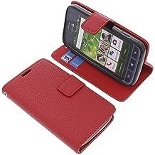 Funda para Doro Liberto 820 Mini estilo libro roja protectora