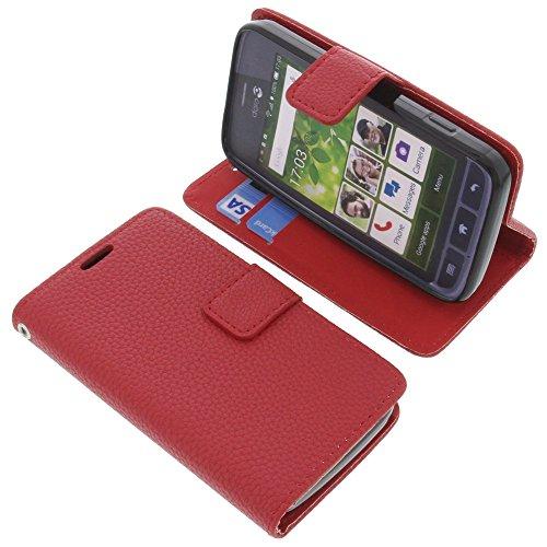 foto-kontor Tasche für Doro Liberto 820 Mini Book Style rot Schutz Hülle Buch