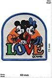 Patch - Mickey Mouse - Mickey and Minnie - Love - Cartoon - Mickey Mouse - Aufnäher - zum aufbügeln - Iron On