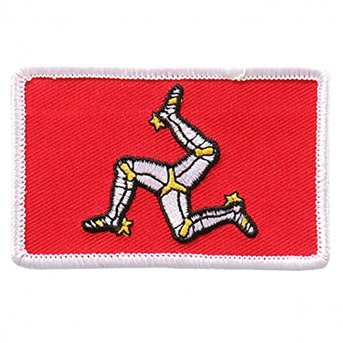"Embroidered ISLE OF MAN Flag PATCH, Iron-On / Sew-On - 3"" x 2"""