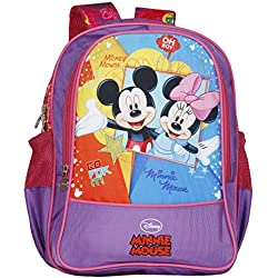 Disney School Bag For Girls 06+ Years Mickey Mouse Oh My 22 (L) Purple (Dm-0069)