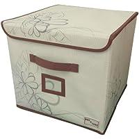 Preisvergleich für Eckig Luxus Blumen Aufbewahrungs Kasten Schlafzimmer Ordentliches Zimmer Spielzeug Aufbewahrung Kasten Box Trunk - Beige