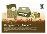 Ursus 22650099 - Designkarton Amber 200 g / qm, 24 x 34 cm, 20 Blatt, beidseitig bedruckt